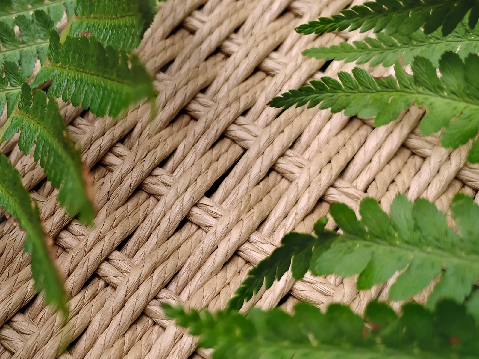 Webmuster der Papierkordel. Natürliches Material und traditionelles Handwerk